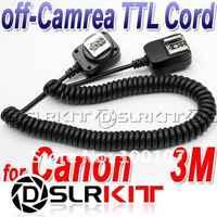 3M 3 meter E-TTL Off Camera FLASH sync Cord for Canon