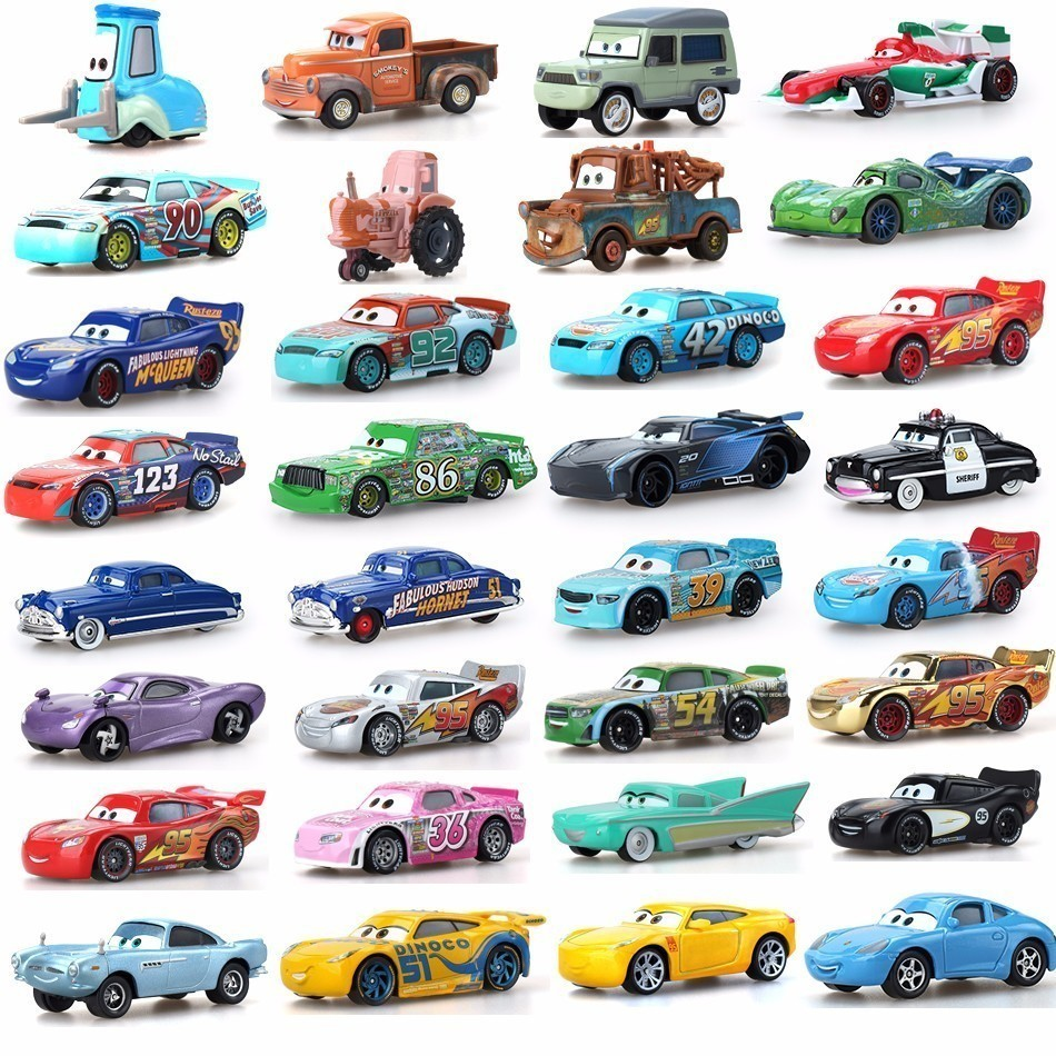 Cars Disney Pixar 34 Style Cars 3 McQueen Jackson Storm Smokey Diecast Metal Car Model Birthday Boy Gift Toy For Kid Boys Best