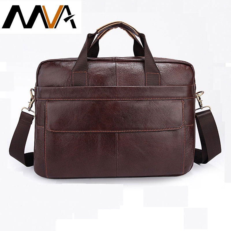 MVA Men Briefcase Business Travel Briefcase Handbag Messenger Shoulder Laptop Bags Genuine Leather Bag Men Solid Color Briefcase mva genuine leather men bag business briefcase messenger handbags men crossbody bags men s travel laptop bag shoulder tote bags