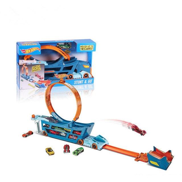 3D rapide train Piste Roller Coaster Jouet Électrique Rail De Voiture pour Éducatifs Assemblés Jouets Enfant Cadeau enfants jouets pour enfants