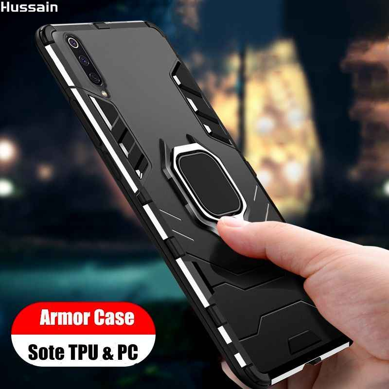 Hussain Ring-Case Cover Armor Case Voor Samsung Galaxy S10 Plus Standhouder Soft Shockproof Telefoon Cover voor Samsung a50 70 Case