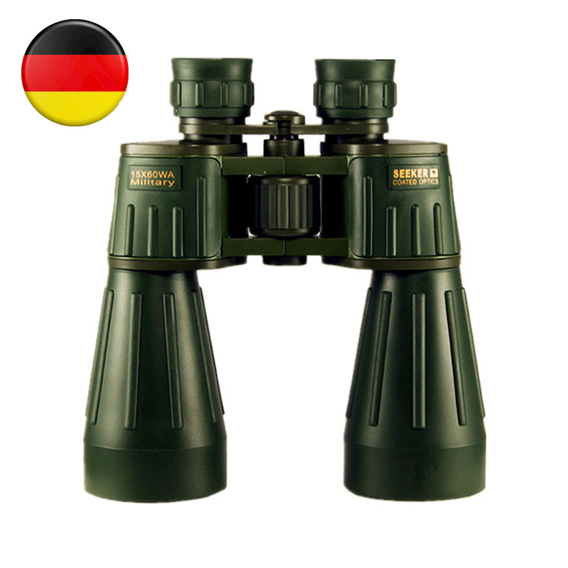 Binoculars Seeker 15X60 Germany Military Powerful Binocular Army Green Professional Telescope High-definition for Hunting Best 10x50 outdoor military binocular army green marine prismatic binoculars hot sale
