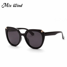 Mix Wind 2017 sunglasses fashion luxury brand women designer vintage sunglasses shades glasses woman big framework uv400