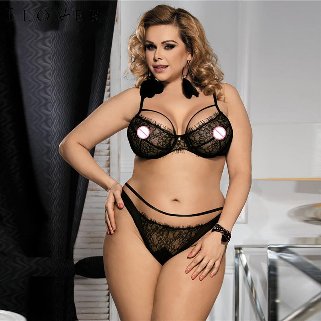 19faf00f1d Detail Feedback Questions about Elover Sexy Babydoll Lingerie Set Erotic Women  Black Lace Plus Size Costume Sleepwear Transparent Hollow out Chemise ...