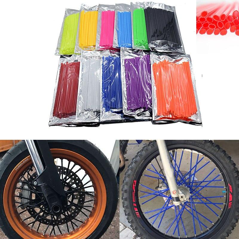Motocicleta motocross dirt bike enduro rueda spoke skins cubierta para Yamaha Ducati KTM Suzuki Honda Kymco Harley ATV