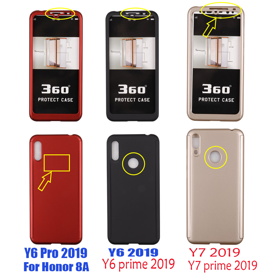 Image 4 - Luxury 360 Full Cover Case For Huawei Y9 Y7 Prime Y6 Pro 2019 Protective Case For Huawei Y7 Y6 2018 Y5 2017 P smart Z Phone Case-in Fitted Cases from Cellphones & Telecommunications