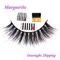 Free Shipping Marguerite In Stock Fashion Style Handmade Premium 100 Real Mink Strip Lashes