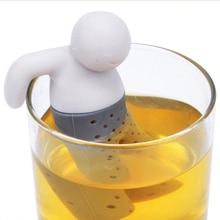 Креативный Силиконовый Фильтр для заварки чая в форме человека, резиновый фильтр для рассыпчатого чайного листа, травяной фильтр для специй, для кухонных принадлежностей, гаджет, чистый мягкий