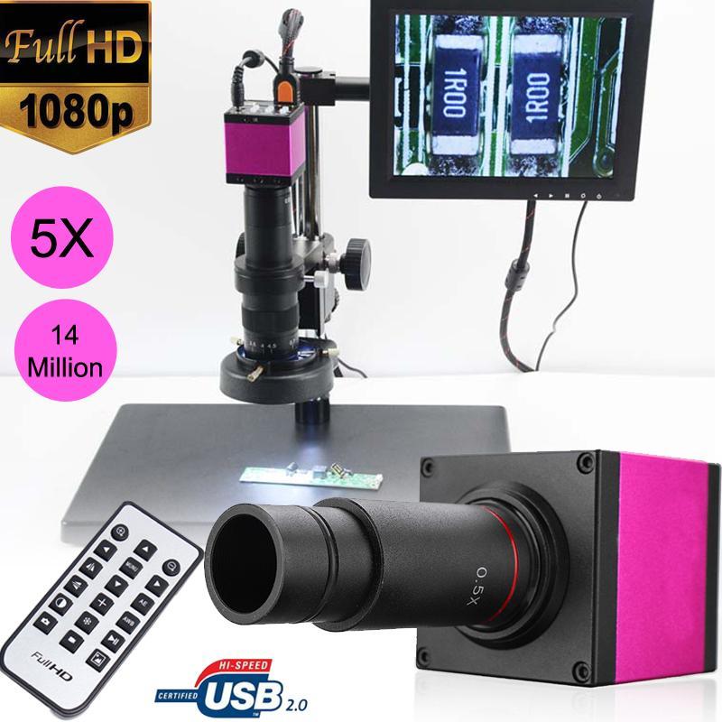 14MP 1080 P 32 GB HDMI USB C monture numérique industrie vidéo Microscope caméra Zoom objectif + télécommande