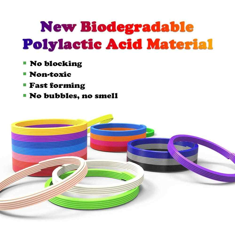 Dikale PLA 3D Material de impresión modelado estereoscópico 120m 3D pluma inodoro Biodegradable especial Impresora 3D Imprimant filamento