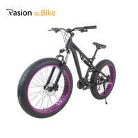 Passion Ebike 24 Speed Aluminum Alloy Full Shockingproof Fat Bike For Bicycle Hydraulic Disc Brake