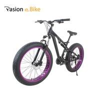 Passion Ebike 24 Speed Aluminum Alloy Full Shockingproof Fat Bike For Bicycle Hydraulic Disc Brake