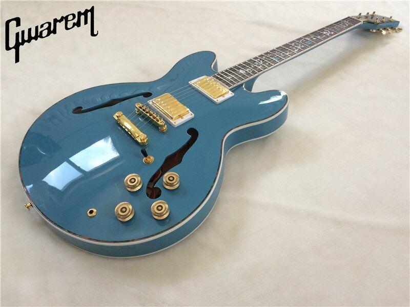 Electric guitar 2017 new Gwarem lp custom jazz ES-33-5/hollow guitar/guitar in china