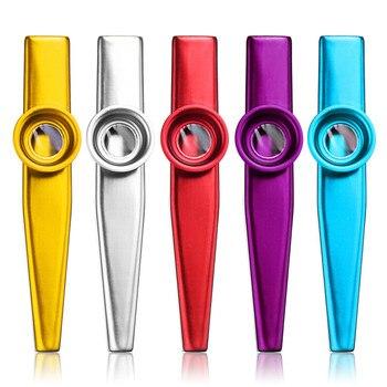 Irin 6 색 알루미늄 합금 금속 Kazoo 심플한 디자인 경량 휴대용 입 플루트 키즈 선물 하모니카 목관 악기