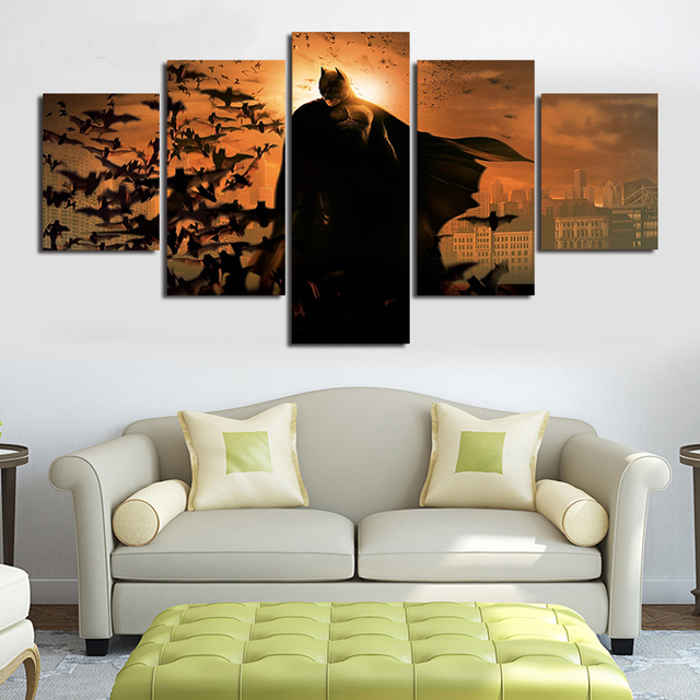 canvas wall art movie poster the batman 5 panel unframed canvas