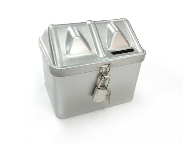Size114x90x105mm House Shaped Box Saving Money Tin Box Coin