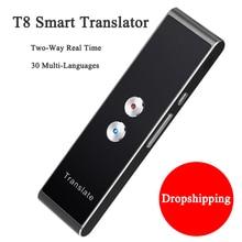 купить T8 Smart Voice Translator for Learning Travelling Business Meeting 3 in 1 voice Text Photo 30 Languages Translator Traductor по цене 2037.3 рублей
