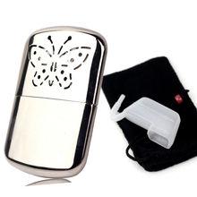 Переносная бабочка топливный грелка для рук многоразовые Платиновые стандартные карманные удобные грелки для рук для охоты на открытом воздухе