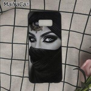 Image 5 - イスラム教徒イスラムグリルで目の女性のヒジャーブ顔電話ケースs9 s8プラス注8 note9 s7 s6edgeケースbabaite