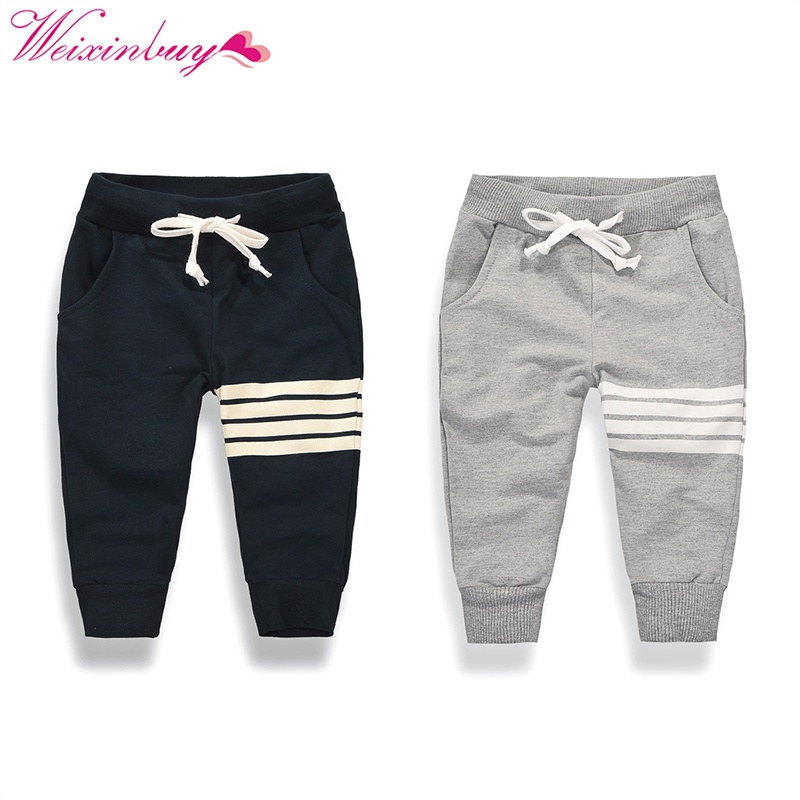 2017 new Korean boy fashion leisure cotton Pants children active sports outdoor trousers drawstring casual pants 1-10Y