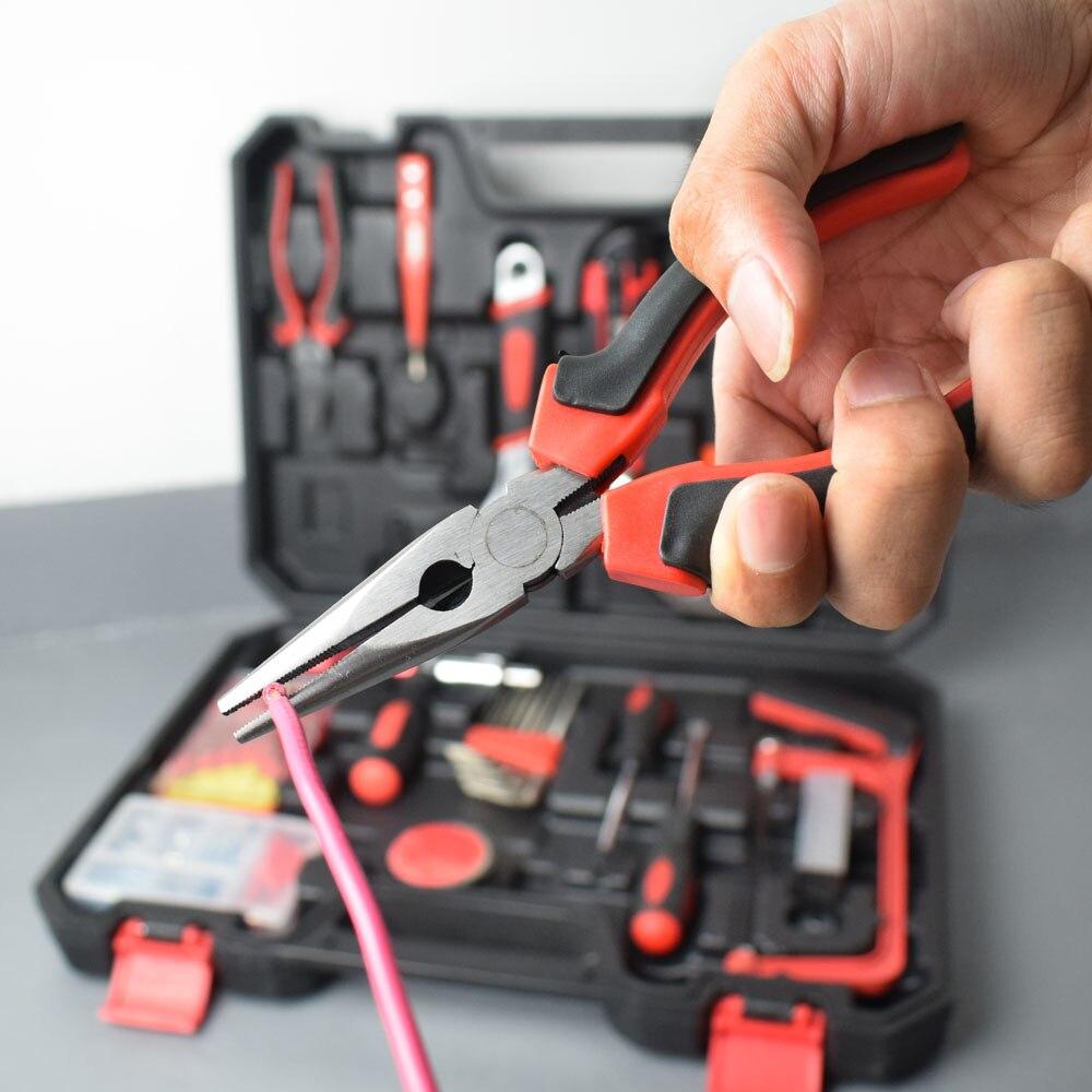 NEWACALOX 110 шт набор ручных инструментов торцевой ключ цифровой тестовый карандаш с пластиковым ящиком для инструментов ящик для хранения бытовой ремонтный набор ручных инструментов