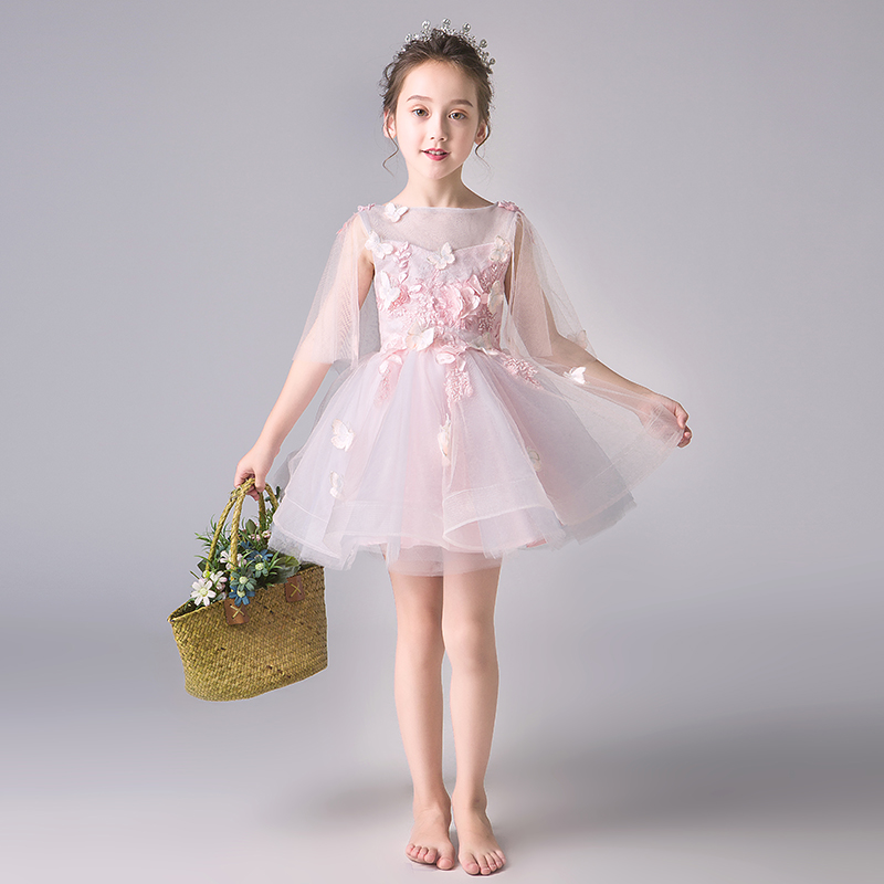 Summer Kids Formal Dress For Girls Clothes Flower Pageant Birthday Party Princess Dress Girl Clothes timex timex t2m874