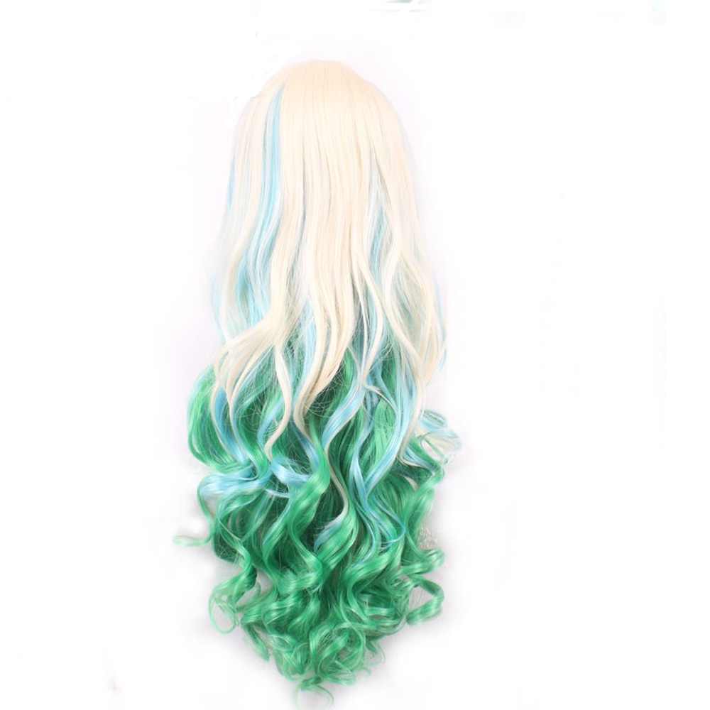 HAIRJOY Synthetic Hair Zipper 70cm Long Wavy Harajuku Lolita Cosplay Wig 18 Colors Available 118