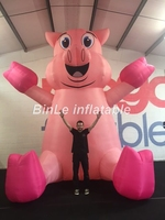 Custom new style pink giant inflatable pig animal toys balloon for advertising