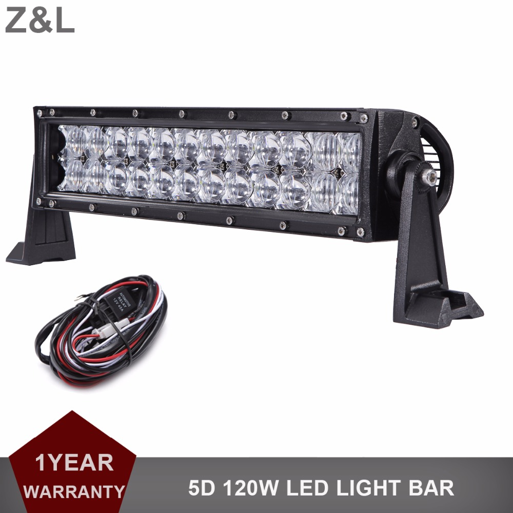120W Offroad LED Work Light Bar 13 Inch Driving Headlight Car SUV Auto UTE Truck Trailer AWD 4X4 4WD Camping Pickup 12V 24V Lamp