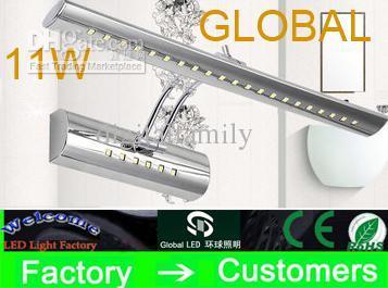 Aço lâmpada de cosméticos espelho do banheiro armário com espelho de luz maquiagem agitando 11 W 5050 SMD 36 Leds cabeça luzes com interruptor lâmpada