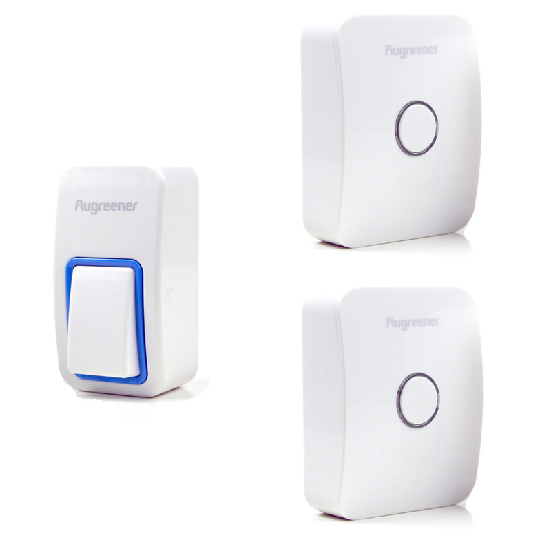 25 Tunes Wireless Remote Control Doorbell Door Bell Chime,One Button and Two Receivers No need battery,Water proof, AC220V