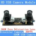 Sin distorsión 5MP sincronización Flexible webcam estérea 1080P 30FPS doble lente USB módulo de cámara para 3DVideo VR Realidad Virtual