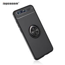Phone Case For Huawei Honor 9 Rotating Finger Ring Holder Matte Soft Silicone Back Cover Coque5.15inch