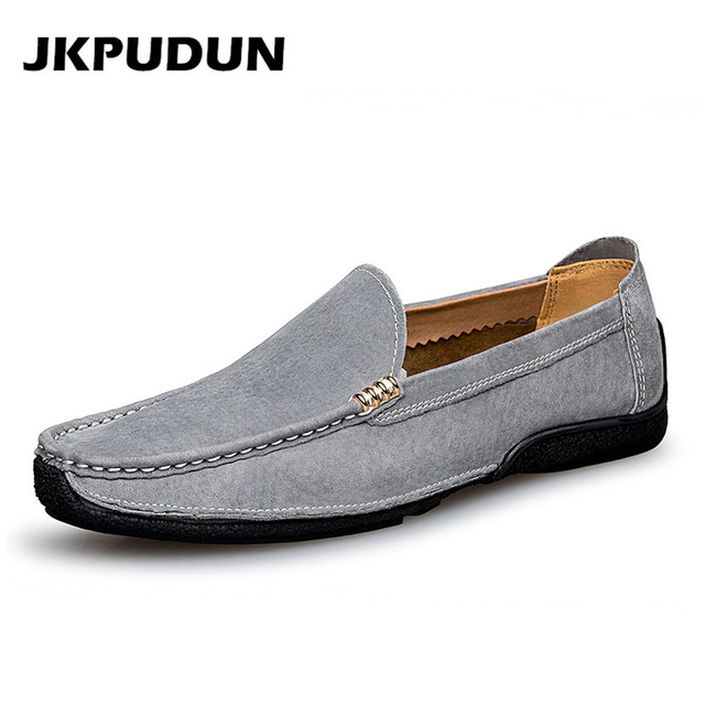 67a02fdd9b0 JKPUDUN Designer Boat Shoes Men High Quality Luxury Brand Italian Driving  Shoes Casual Mens Loafers Genuine