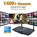 Boxn Q1504 Smart Tv Caja Androide de la Tv Con El Cielo Europeo Francia Canal IPTV Canales de Deportes Ligtv Suecia Holanda Turco Español