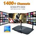 Caixa de Tv inteligente Q1504 Boxn Com Céu France Canal Europeu de Tv Android IPTV Canais de Esportes Suécia Netherland Ligtv Turco Espanhol