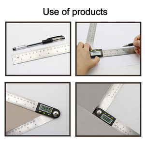 Image 4 - 200mm /300 mm Stainless Steel Digital Meter Angle Inclinometer Angle Digital Ruler Electron Goniometer Protractor Angle finder