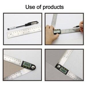 Image 4 - 200mm /300mm 스테인레스 스틸 디지털 미터 각도 경사계 각도 디지털 눈금자 전자 각도계 각도기 각도 파인더