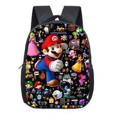 Cartoon super Mario backpack  cute bag kindergarten kids rucksack beautiful Popular pattern boys girls Backpack
