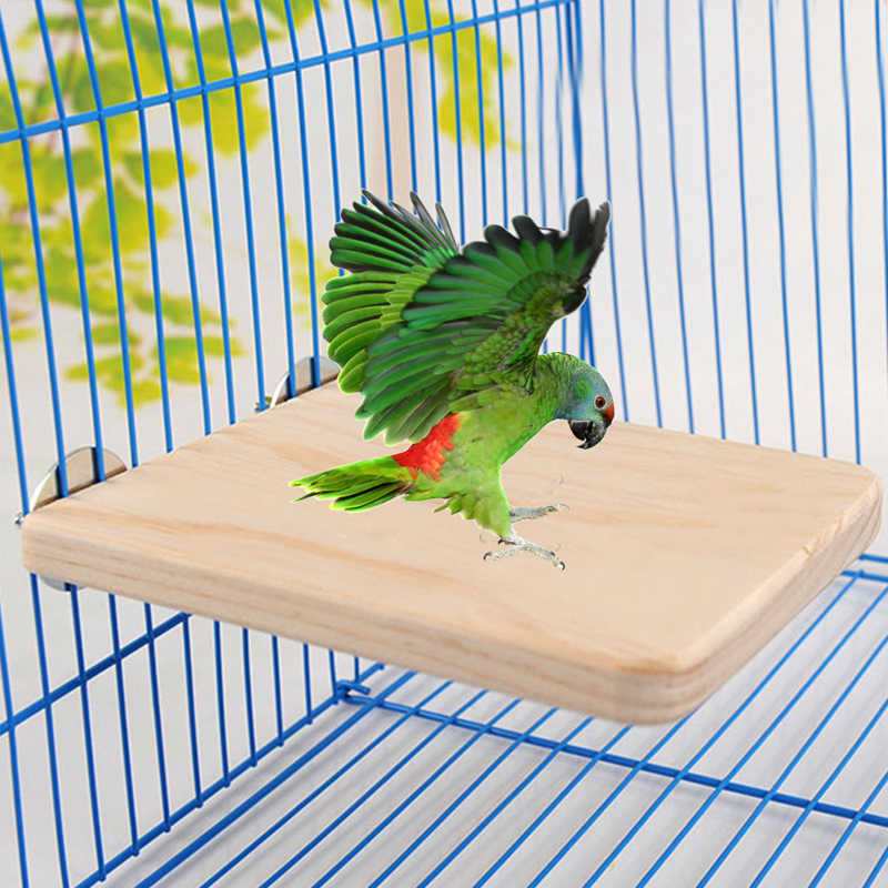 1pc Pet Bird Parrot Chew Toy Wood Hanging Swing Cages Fr Birdcage Parakeet Cockatiel for Gift