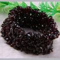 """Frete grátis moda jóias de Chip beads Weave Natural Garnet pulseira 7 """" 1 Pcs H041"""