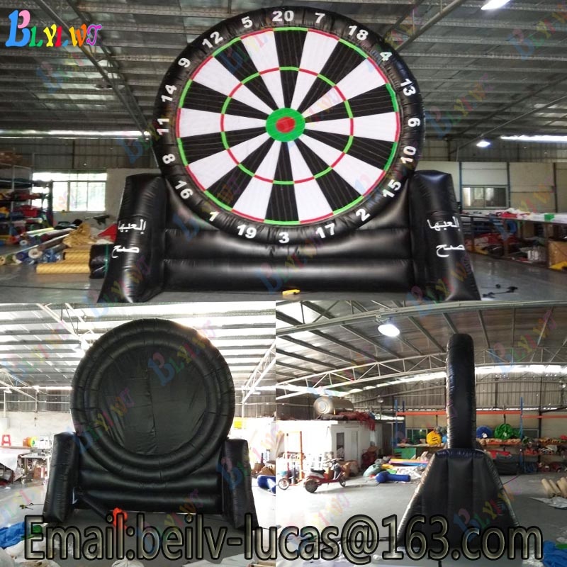 Giant inflatable football dart board, inflatable football darts game, custom risk darts game football darts