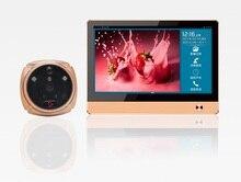 IHome4 вместо iHome 8 Wireless Video Door Phone Smart WI-FI Глазок Дверной Звонок 7 дюймов TFT Емкостный сенсорный ЖК-экран