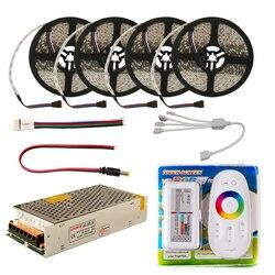 Набор светодиодных лент DC12V RGB RGBW 5050 водонепроницаемый комплект светодиодных лент гибкий светодиодный светильник и Радиочастотный пульт ди...
