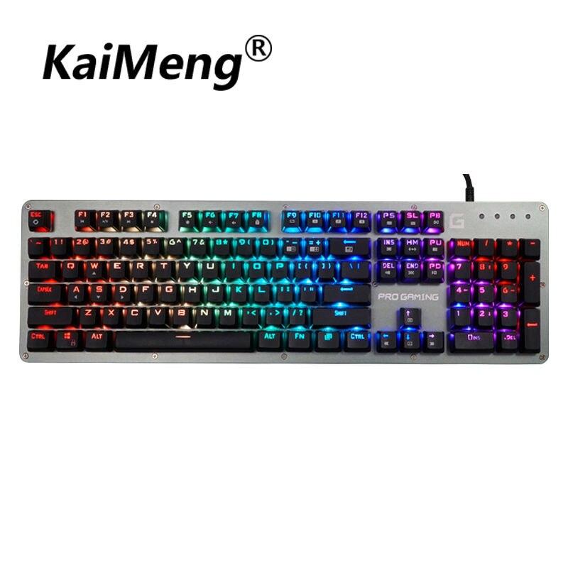 kaiMeng RGB mechanical keyboard gaming ms
