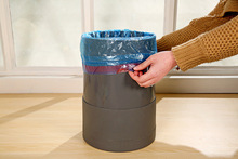 Free Shipping Thick Color Drawstring Garbage Bag Automatic Beam Port Garbage Bags Strong Bearing Trash 15 Pcs/Bags F1410