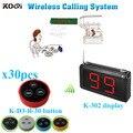 Беспроводной настольный звонок звонящего с K-302 монитором K-D-3 Кнопка передатчика (1 дисплей + 30 кнопок настольного звонка)