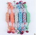 Dog Molar Rope Toys 100% Cotton Colored Cotton Rope Braided Dog Ropes Teething rings Large Dog Pet Toys 25CM-30CM