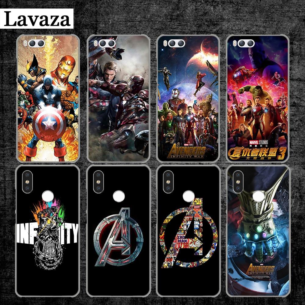 Lavaza Marvel Avengers Infinite War New Hard Case for Xiaomi MI 5 5S 6 8 9 SE Lite F1 A1 A2 5X 6X Mix 2S MAX 3
