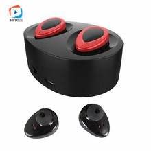 Mini Earpieces Handsfree Wireless Bluetooth Earphone Stereo In-Ear Earbuds With Microphone Charger Box For Smart Phone